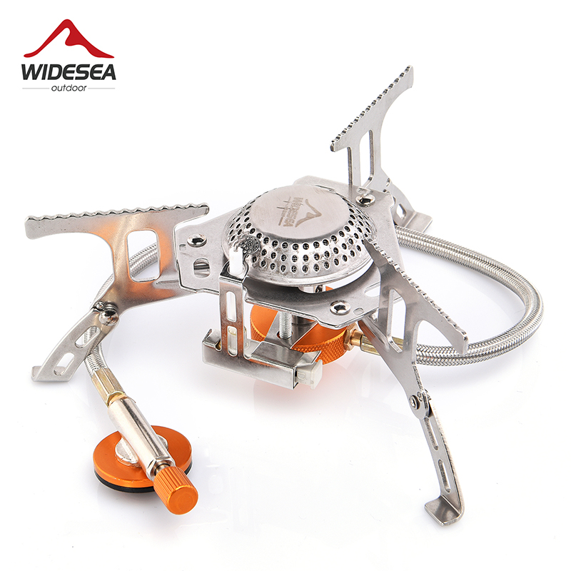 Widesea Outdoor Gas Stove Camping Gas burner Folding Electronic Stove hiking Portable Foldable Split Stoves 3000W|outdoor gas stove|stove campingcamping gas burner - AliExpress