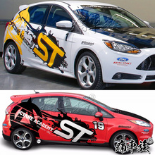 купить Ford FOCUS 2017 body car stickers FOCUS car modification appearance decorative stickers дешево