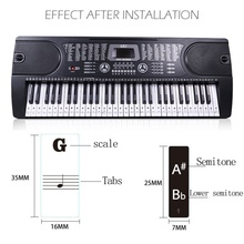 Piano Sticker Transparent Piano Keyboard Sticker Electronic Keyboard 37/49/54/61/88 Key Piano Sticker For Kids Beginners Piano g c pfeiffer piano piece no 1