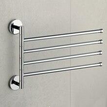 4-слойный поворотный подвижный нержавеющая сталь полотенце вешалка полотенце штанга ванная полотенце держатель кухня органайзер место для хранения вешалка для полотенца
