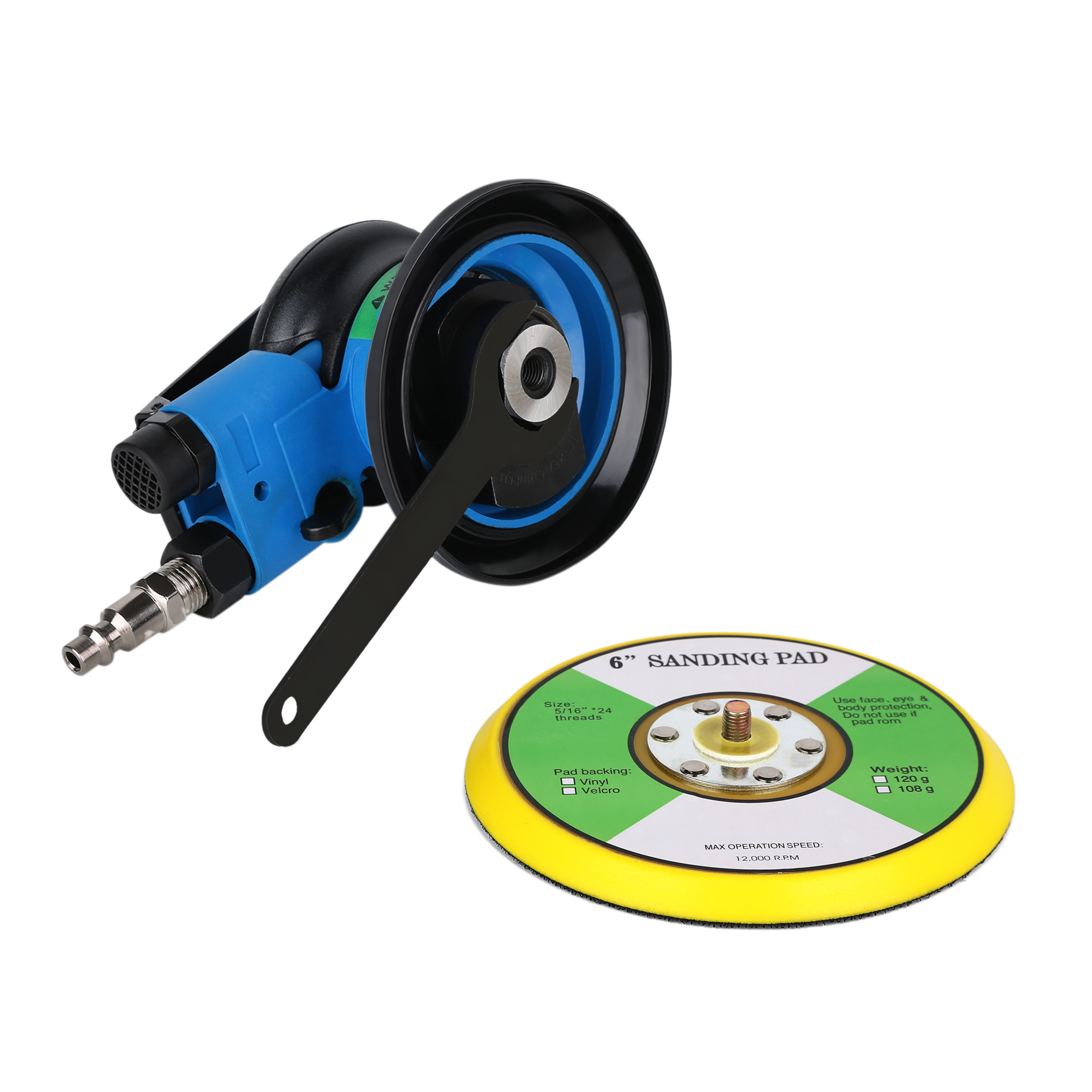 Tools : STARY 6 inch Polisher 12000RPM No-Load Speed 152mm Car Paint Care Tool Polishing Machine Sander Air  Woodworking Polisher