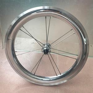 "Image 3 - Bike Alloy Wheelset 1 3/4 Speed 16 x1 3/8"" 349 Width 40mm Rim 14H/21H For Brompton 3sixty Ultralight Folding Bike Wheelset 1176g"