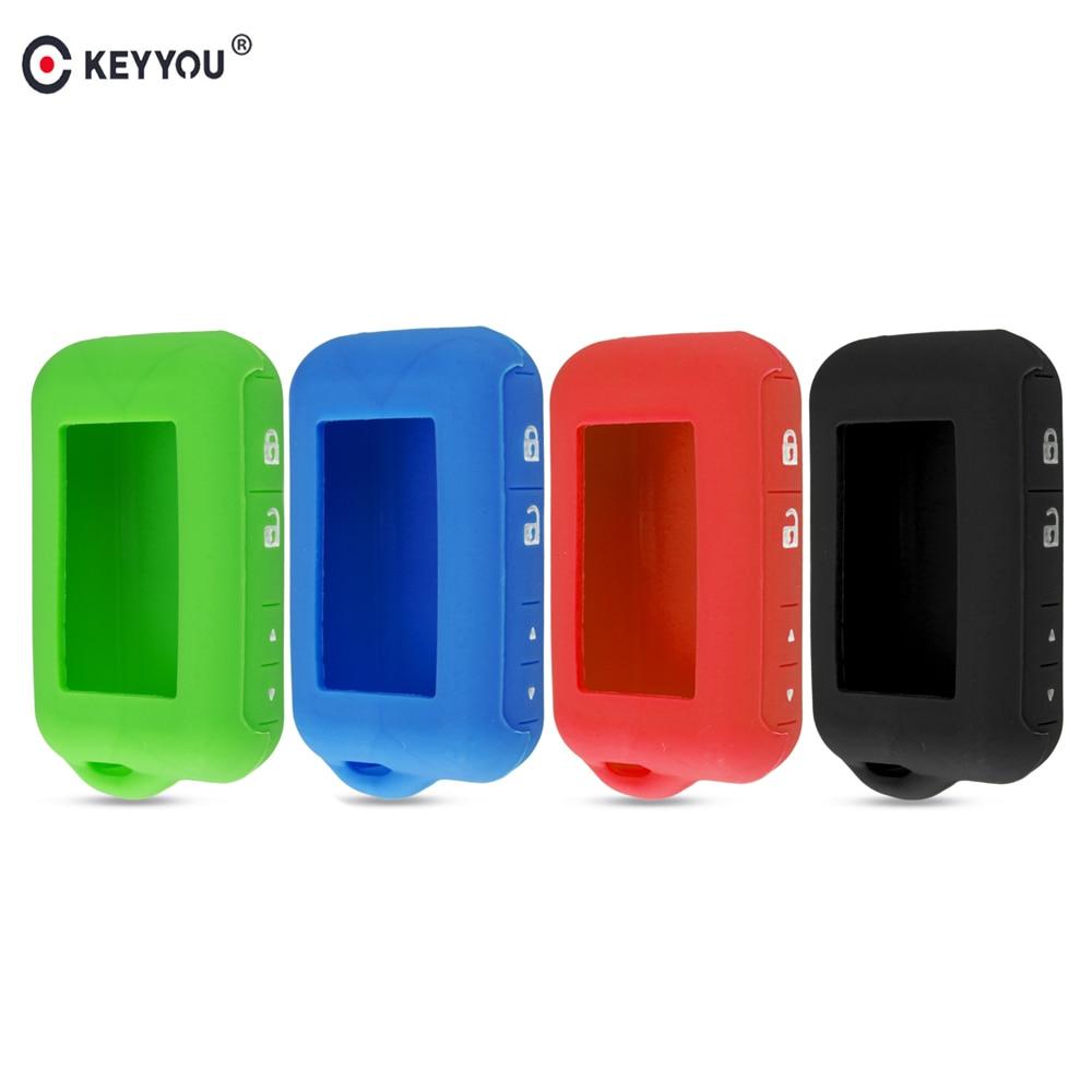 KEYYOU Silicone Key Case For 2 Way Car Alarm System For Starline E60 E61 E62 E90 E91 Remote Control Key Fob