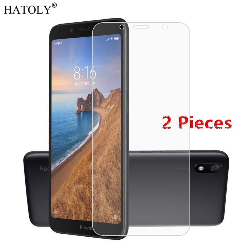 2Pcs For Xiaomi Redmi 7A Glass For Xiaomi Redmi 6 7 8 Tempered Glass Film Screen Protector Glass For Xiaomi Redmi Note 7 8 T Pro