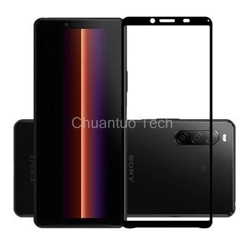 Перейти на Алиэкспресс и купить 2.5D 9H Премиум Закаленное стекло для Sony Xperia 1 II полное покрытие Защитная пленка для Sony Xperia 10 II