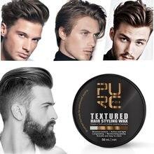 Purc forte segurar estilo de cabelo cera para homens segurar estilos de cabelo fosco acabado moldagem cera escovado creme tipo estereótipos estilo lama