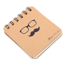 Cute Kraft Paper Spiral Coil Note Book Journal Diary Memo Blank Page Stationery