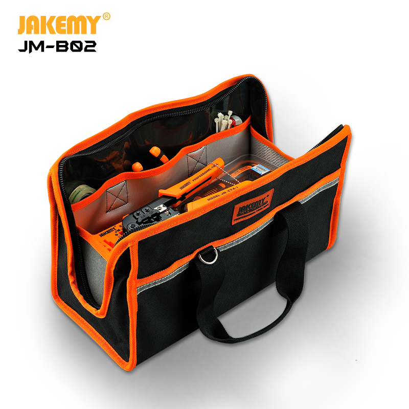 JAKEMY B02 Portable 600D Oxford Fabric Waterproof Tool Bag with Strong Shoulder Straps Easy for Packing Storing Equipment