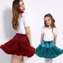 New HOT Girls Tutu Skirts Solid Fluffy Tulle Princess Ball Gown Pettiskirt Kids Ballet Party Performance Skirts for Children