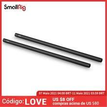 Smallrig 15mm haste de fibra de carbono 18 polegadas de comprimento para câmera dslr rig sistema de apoio ferroviário de 15mm-0871 (pacote de 2 pces)
