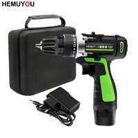 12V 16.8V Cordless Electric Screwdriver Rechargeable Lithium Battery Dual Speed Cordless Drill Power Tools