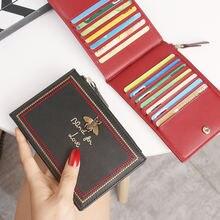 Новая женская кожаная сумка для карт с несколькими отделениями