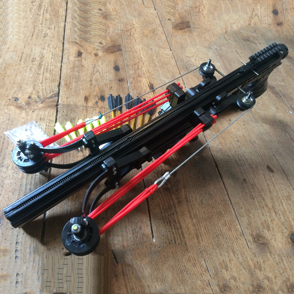 Neptune 13 Powerful Slingshot Hunting Catapult Continuous Shooting 40 Rounds Ammo Arrows Steel Balls For Hunting And Shooting