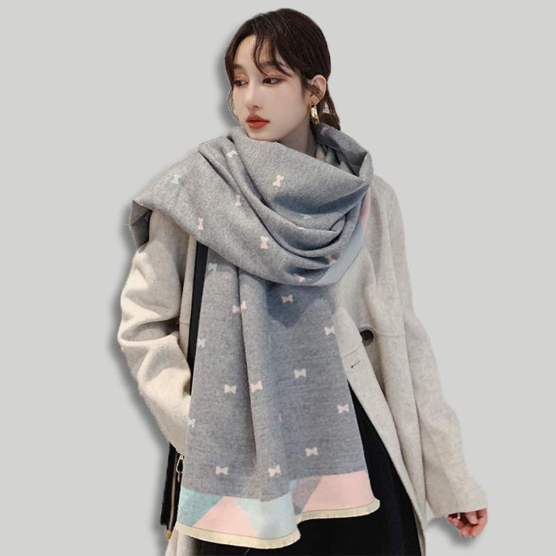 Brand Designer Cashmere Scarf Women 2019 Winter Scarves High Quality Shawls And Wraps Thick Warm Pashmina Lady Blanket Scarf