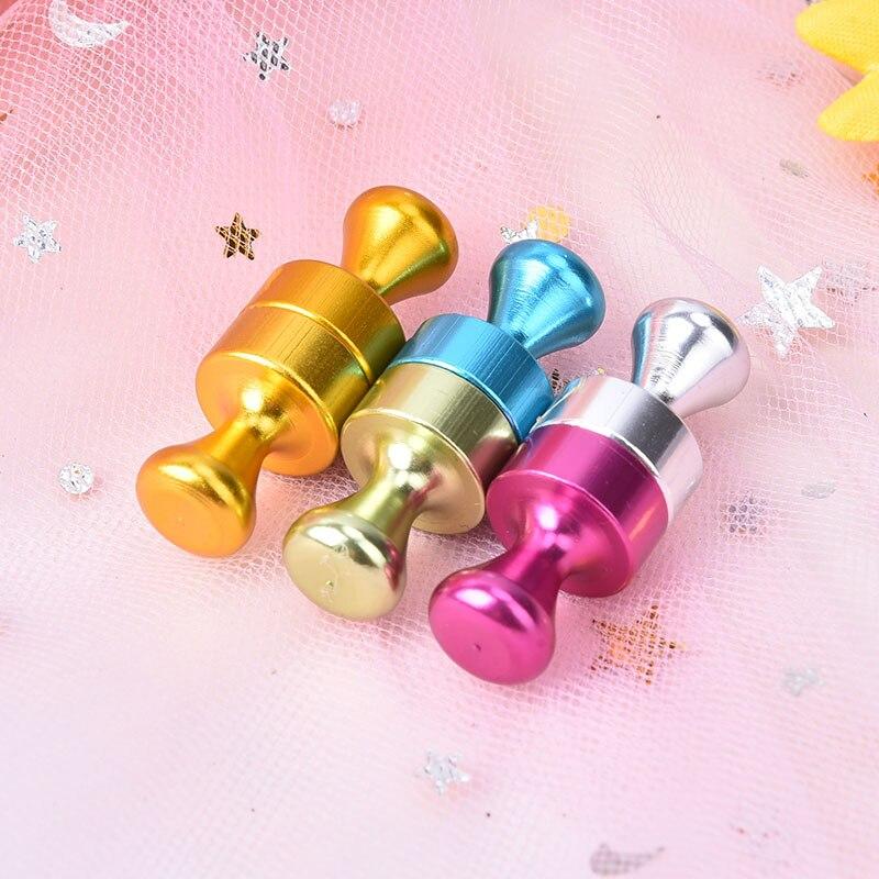 6pcs/Set Strong Colored Magnetic Thumbtacks Neodymium Noticeboard Skittle Pin Magnets For Fridge Whiteboard Random Colors