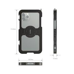 """Image 4 - Smallrig Pro Mobiele Kooi Voor Iphone 11 Pro Max Nauwsluitend Beschermende Kooi Met 1/4 """" 20 Schroefdraad gaten/Koud Schoen Mount   2512"""