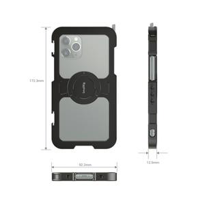 Image 4 - قفص هاتف محمول صغير احترافي لهاتف iPhone 11 Pro Max قفص واقي مُناسب حسب الطلب مع 1/4 بوصة 20 فتحة ملولبة/حامل أحذية بارد 2512