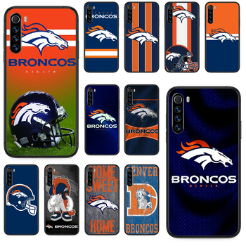 Denver Bronco American Football Phone case For Xiaomi Redmi Note 4A 4X 5 6 6A 7 7A 8 8A 4 5 5A 8T Plus Pro black funda painting image