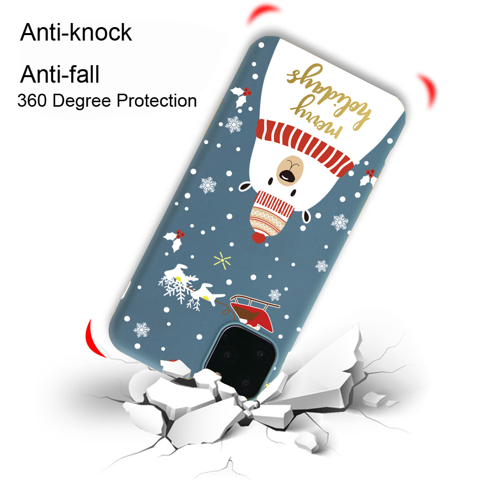 Christmas New Year Santa Claus Case For iPhone 12 Pro