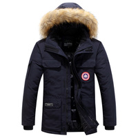 Men's Thick Clothing 2019 Winter Goose Down Coat Jacket Warm Military Outdoor Men Overcoat Outerwear Warm chaquetas hombre