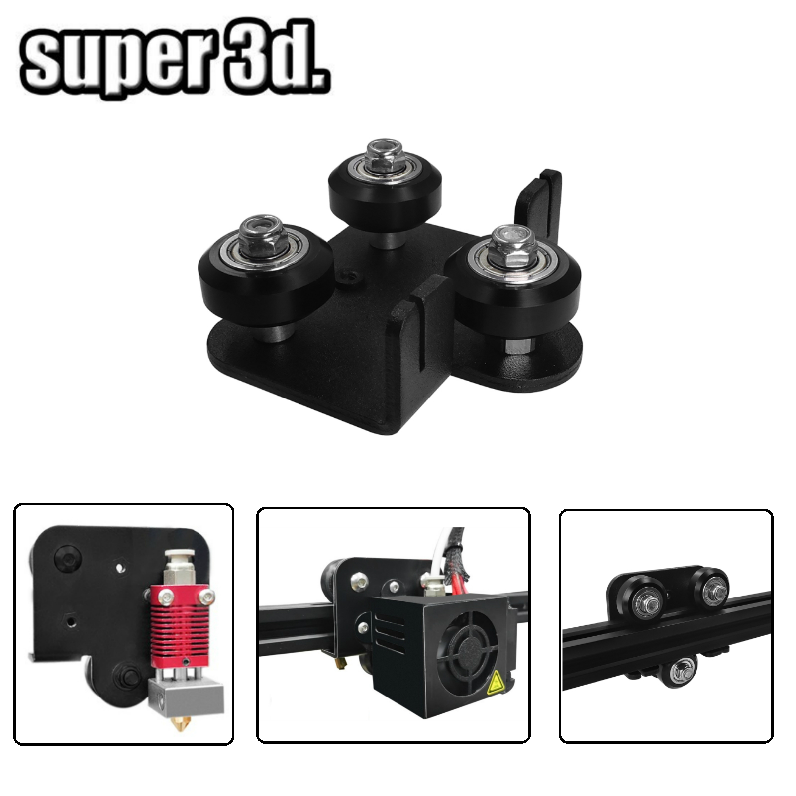 Extruder Back Support Plate Kit With Bearing Pulley Backplate For Creality CR-10 10s Ender 3 S4 S5 Series/ TEVO Anet 3D Printers