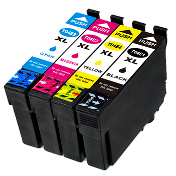 6 pac (3B+1C+1M+1Y) Compatible Ink Cartridge T04E for Epson Expression Home XP-2101 4101 WF-2831 2851
