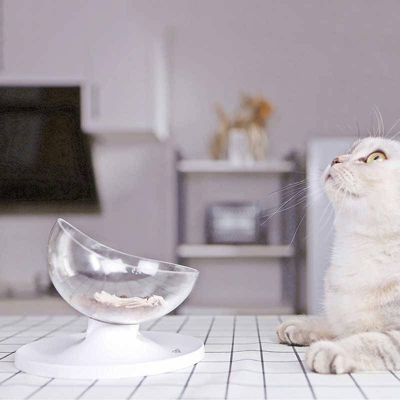 Yumurta kabuğu Şeklinde toksik Olmayan Köpek kedi maması kabı Pet Besleyici Ayarlanabilir Eğim Kediler Evcil Hayvanlar için Ürünler Malzemeleri Kedi Besleme Araçları