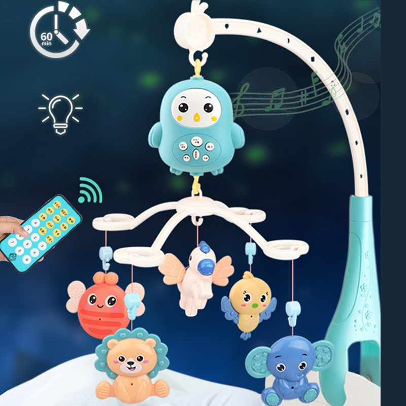 4305 Contents Crib Mobile Bed Bell With Music And Remote Control Early Learning Kids Toy Baby Rattle Infant Toys For 0-12 Months