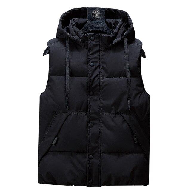 Winter Men Plus Size 6xl 7xl 8xl 9xl 10xl Parka Vest Waistcoat Hoodie camouflage Sleeveless Jackets Warm Parka Waistcoat Men Others Men's Fashion