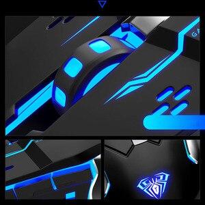 Image 5 - AULA المهنية ماكرو لعبة ماوس برو LED السلكية الألعاب فأرة للكمبيوتر المحمول الكمبيوتر الفئران قابل للتعديل 3200 ديسيبل متوحد الخواص الصامت Mause Gamer