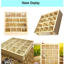 Hot Pet Hamster Wooden Mazes Tunnel Gerbil Rat Mouse Mice Small Animal Play Toys FQ-ing