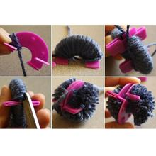 Вязание пушистый шар ткач Комплект «умелые руки» инструмент дома& Amp; живой помпон производитель забавные аксессуары 4 размера струны ремесло приспособление для шитья гаджет