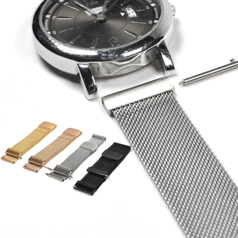 Magnetic Strap Rose Gold Milanese Loop Bracelet Mesh Band 14mm 16mm 18mm 20mm 22mm 23mm Watch Band for Wrist Watch Drop Shipping in Watchbands from Watches