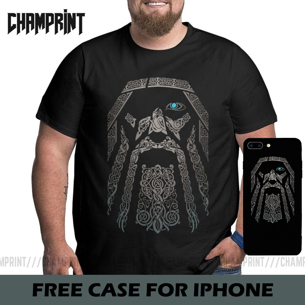 <font><b>Men</b></font> ODIN Vikings Valhalla <font><b>T</b></font> <font><b>Shirt</b></font> Cotton Vintage Big Tall Tops Tees <font><b>T</b></font>-<font><b>Shirts</b></font> Plus Size Big Size Large Clothing 4XL 5XL <font><b>6XL</b></font> image