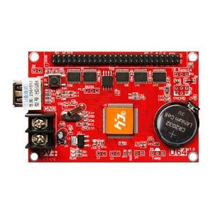 Image 2 - Huidu HD U64 HD U64 sterownik wyświetlacza LED pojedynczy i podwójny kolor P6 P10 moduł znaku led karta kontrolna u disk do edycji huidu HD U64