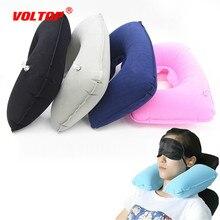 цена на Car Seat Pillow Inflatable Pillow Air Cushion Neck Rest U-Shaped Compact Plane Flight Travel Pillows Home Textile