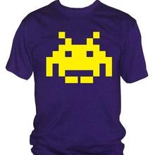 Camiseta de los hombres de Fm10 4 los intrusos del espacio ani80 Vintage videojuegos nueva camiseta fresca
