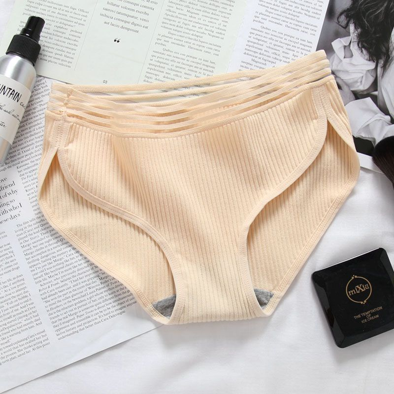 Women Sexy Panties Cotton Underwear Mid-Rise Elastic Brief Women\'s Comfortable Panties Women\'s Intimates