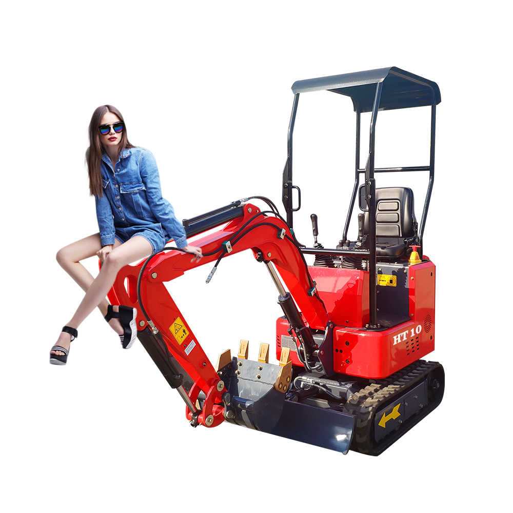 Ride On Diesel Mini Excavator With Roof And Bucket