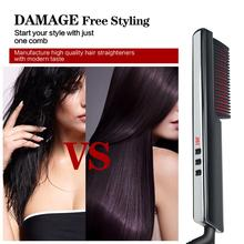 Multifunctional Hair Straightener Curler Comb Brush Beard