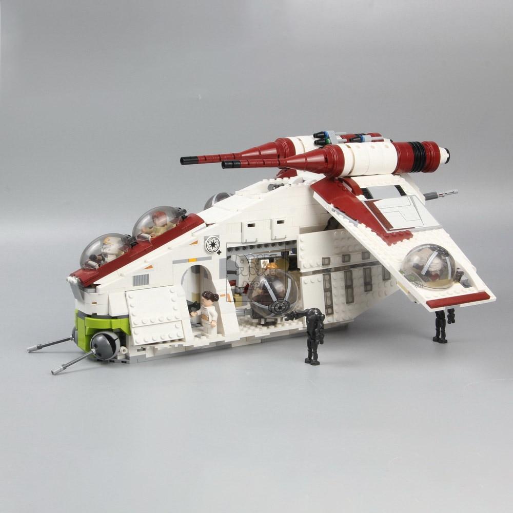 05041 War UCS The Republic Gunship 05035 Death Star Wars Building Block Set Bricks toys 75021 10188
