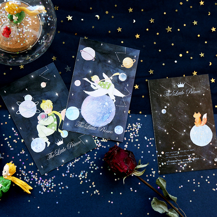 30 Pcs/set Le Petit Prince Series Greeting Card Vintage Postcard Birthday Letter Envelope Gift Card Set Message Card