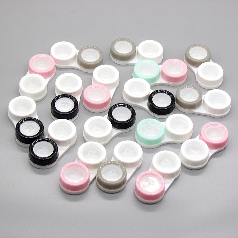 1Pcs Cosmetic Contact Lens Case Eye Care Box Double-box Eyewear Bag Keeps Contact Lenses Safe