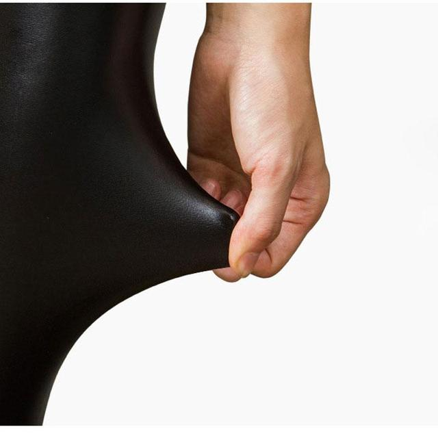 Plus Size PU Leather Leggings Women Shiny High Waist