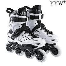 Adult Inline Roller Skates Skating Shoes Street Free Style Roller Skating Shoes Sneaker Outdoor Beginner Trucks Pu Wheels Cool