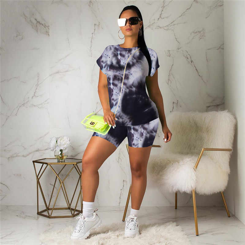 Women Short Sleeves Letter Print Casual Club Party Sports Short Pants Set 2pc
