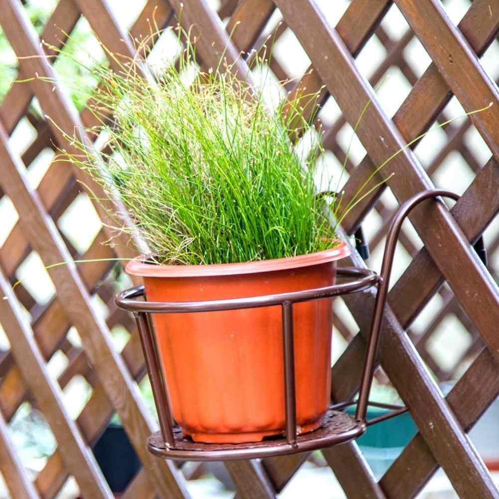جديد الأوروبية نمط الحديد السور حامل وعاء الزهور الإبداعية المنزل شنقا نافذة الأخضر زراعة حوض الرف شرفة حامل زهور