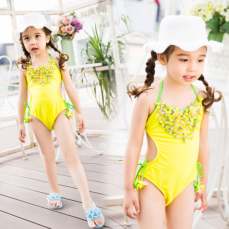 New Style KID'S Swimwear GIRL'S One-piece Cute Princess Dress-Baby Big Boy Swimwear Girls Swimming Suit