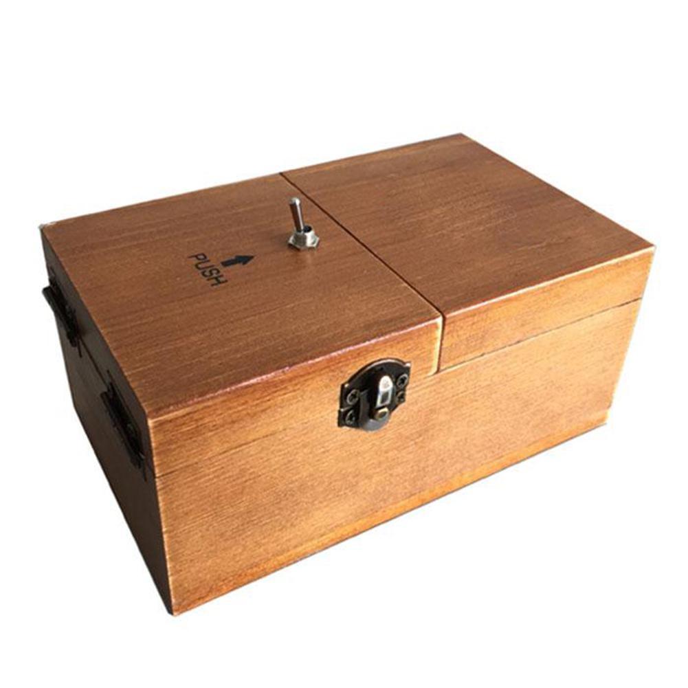 deixe sozinho máquina caixa com madeira real
