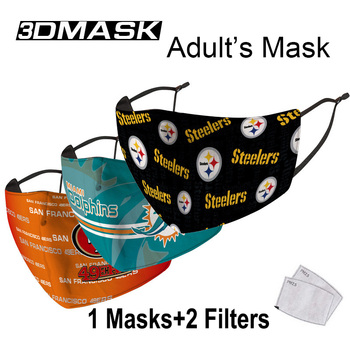 Football League Club Protective Mask Adult Reusable Face PM 2.5 Filter Masks Anti Dust Mouth Mask Fabric Masques image